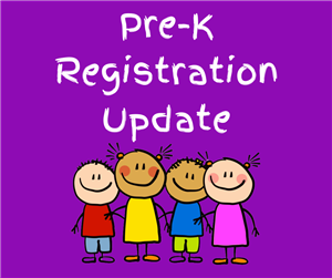 Pre-K Registration Update